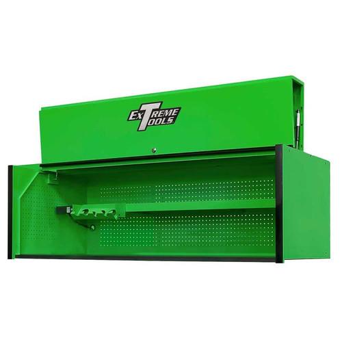 "Extreme Tools RX Series 72"" x 30"" Deep Hutch - Green w/Black Handle"
