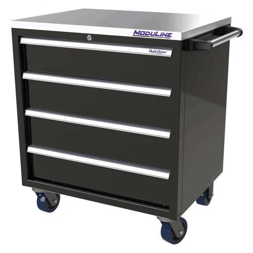 Moduline QuikDraw 32 4-Drawer Aluminum Roller Cabinet