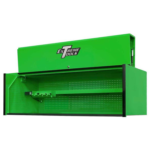 "Extreme Tools RX Series 72"" x 25"" Deep Triple Bank Hutch - Green w/Black Handle"