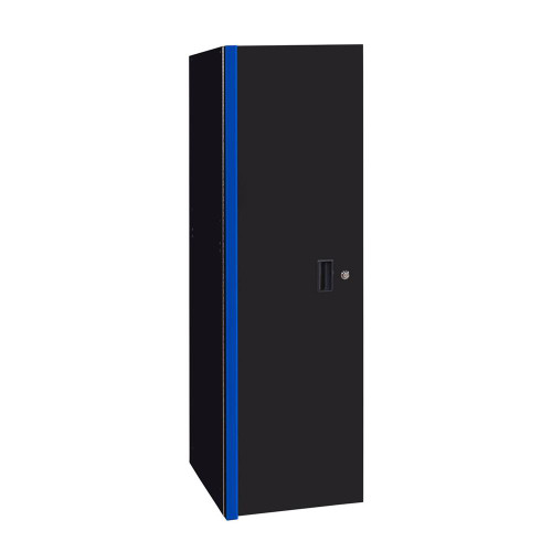 "Extreme Tools RX 19"" x 25"" Deep 3 Drawer/3 Shelf Side Locker - Black w/Blue Trim"