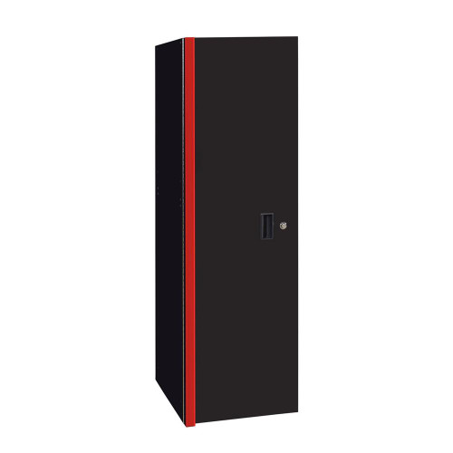 "Extreme Tools RX 19"" x 25"" Deep 3 Drawer/3 Shelf Side Locker - Black w/Red Trim"