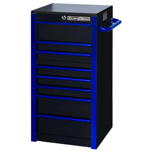 "Extreme Tools RX 19"" x 25"" Deep 7-Drawer Side Box - Black w/Blue Trim"