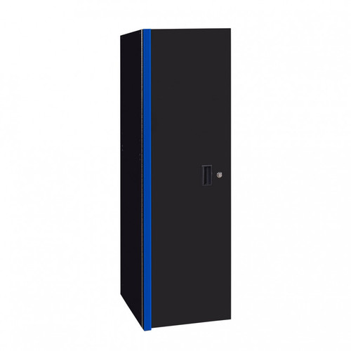 "Extreme Tools RX Series 24"" x 30"" Deep 3 Drawer/3 Shelf Side Locker - Black w/Blue Handles"