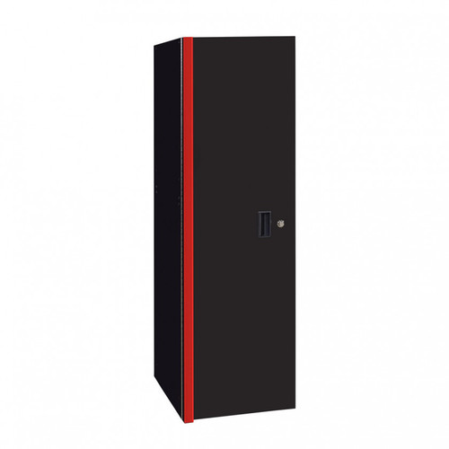 "Extreme Tools RX Series 24"" x 30"" Deep 3 Drawer/3 Shelf Side Locker - Black w/Red Handles"