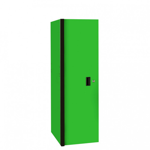 "Extreme Tools RX Series 24"" x 30"" Deep 3 Drawer/3 Shelf Side Locker - Green w/Black Handles"