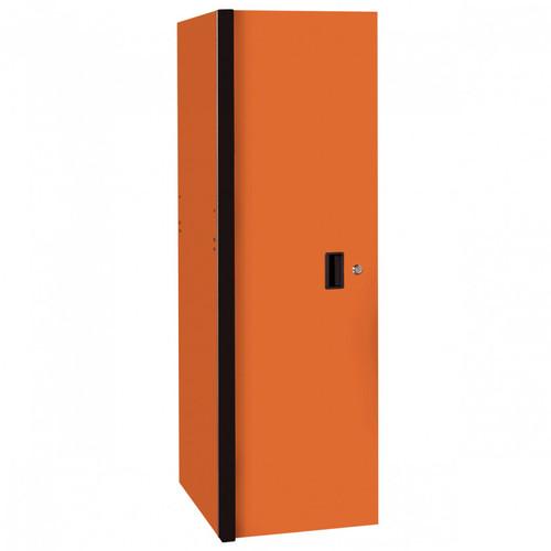 """Extreme Tools RX Series 24"""" x 30"""" Deep 3 Drawer/3 Shelf Side Locker - Orange w/Black Handles"""