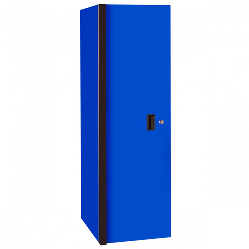 "Extreme Tools RX Series 24"" x 30"" Deep 3 Drawer/3 Shelf Side Locker - Blue w/Black Handles"
