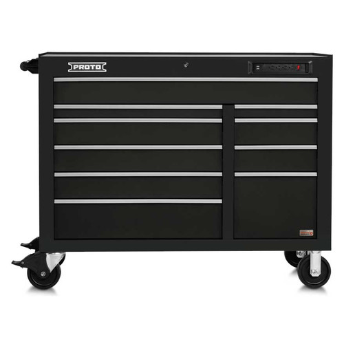 "Proto 550E 50"" Front Facing Power Workstation w/ USB- 10 Drawer - Gloss Black"