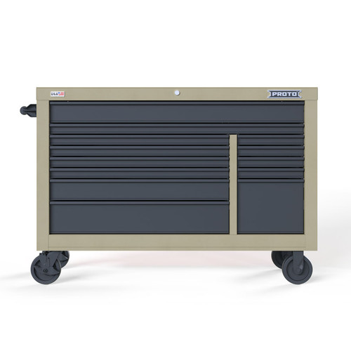 "Proto Velocity 55"" 13-Drawer Double Bank Roller Cabinet - Desert Tan"