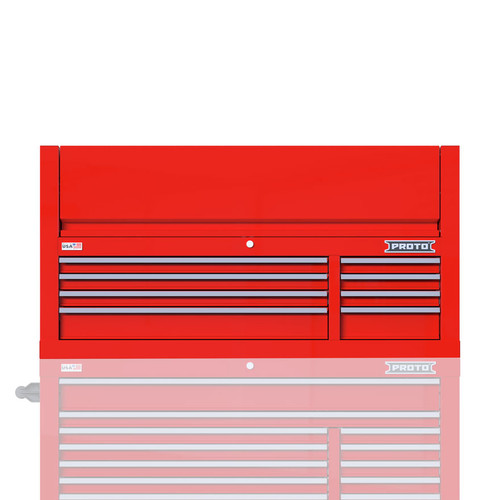 "Proto Velocity 55"" 8-Drawer Double Bank Top Chest - Red"