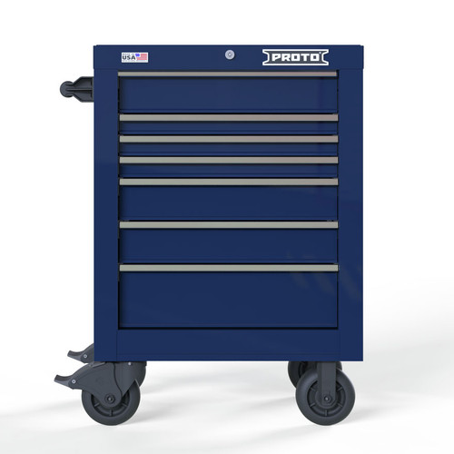 "Proto Velocity 27"" 7-Drawer Single Bank Roller Cabinet - Blue"