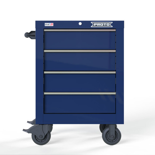 "Proto Velocity 27"" 4-Drawer Single Bank Roller Cabinet - Blue"