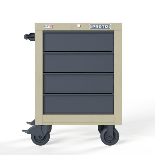 "Proto Velocity 27"" 4-Drawer Single Bank Roller Cabinet - Desert Tan"