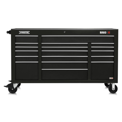 "Proto 550E 67"" Power Workstation- 18 Drawer - Gloss Black"