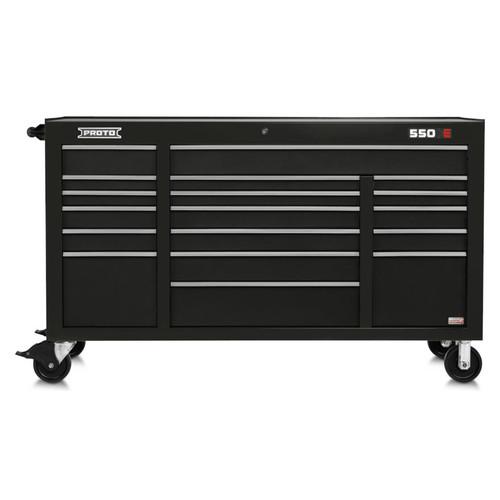 "Proto 550E 67"" Power Workstation- 18 Drawer - Gloss Black"