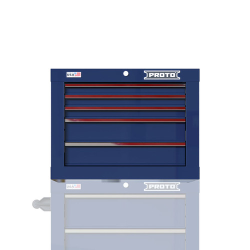 "Proto Velocity 27"" 5-Drawer Single Bank Top Chest - Blue"