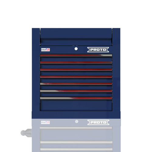"Proto Velocity 27"" 7-Drawer Single Bank Top Chest - Blue"