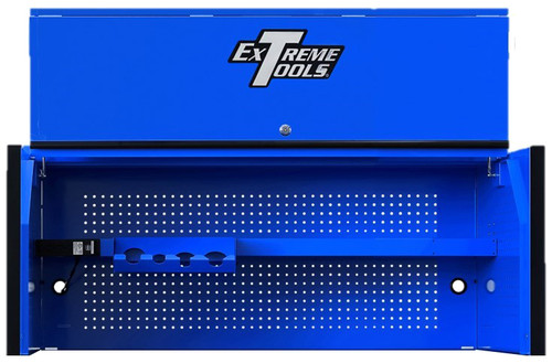 "Extreme Tools RX Series 55"" x 25"" Deep Professional Hutch - Blue w/Black Handle and Trim"