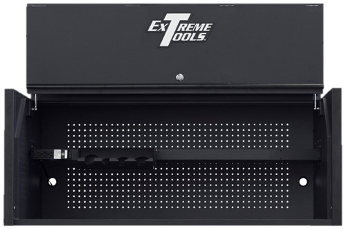 "Extreme Tools RX Series 55"" x 25"" Deep Professional Hutch - Matte Black w/Black Handle and Trim"