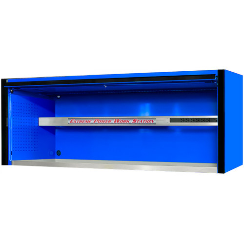 "Extreme Tools EXQ Series 72""W x 30""D Professional Hutch - Blue w/Black Handle"