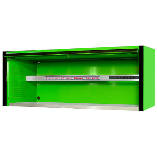 "Extreme Tools EXQ Series 72""W x 30""D Professional Hutch - Green w/Black Handle"