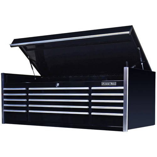 "Extreme Tools 72"" 15-Drawer Professional Top Chest - Black"
