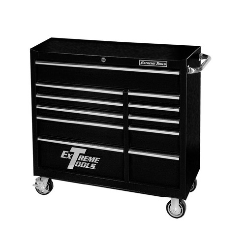 "Extreme Tools 41"" Deluxe Textured Roller Cabinet - Black"