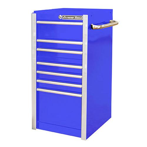 """Extreme Tools RX 19"""" x 25"""" Deep 7-Drawer Side Box - Blue"""