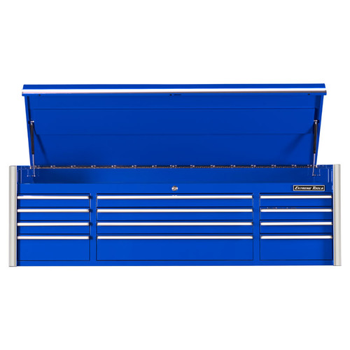 "Extreme Tools 72"" RX Series 12-Drawer Top Chest - Blue"