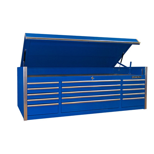 """Extreme Tools 72"""" 15-Drawer Professional Top Chest - Blue"""