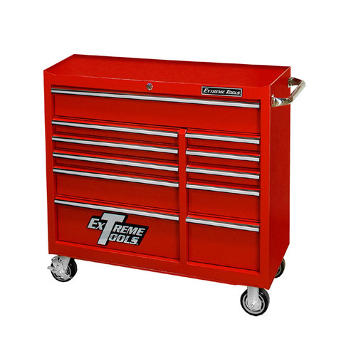 "Extreme Tools 41"" Deluxe Textured Roller Cabinet - Red"