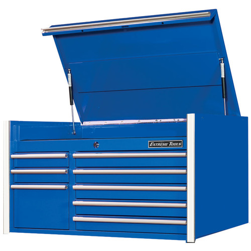 """Extreme Tools RX Series 41"""" 8-Drawer Top Chest - Blue"""