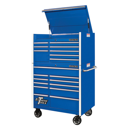 """Extreme Tools RX Series 41"""" 19-Drawer Combo - Blue"""
