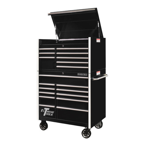 """Extreme Tools RX Series 41"""" 19-Drawer Combo - Black"""