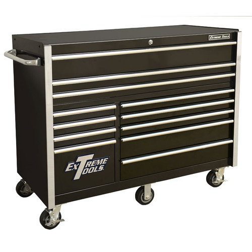 "Extreme Tools RX Series 55"" 12-Drawer Roller Cabinet - Black"