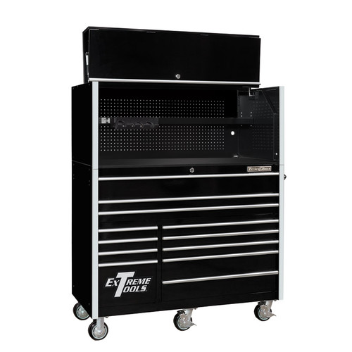 "Extreme Tools RX Series 55"" 12-Drawer Roller with Hutch"