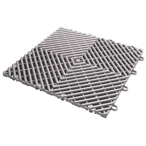 Gladiator Silver Drain Tile Flooring (4-Pack)