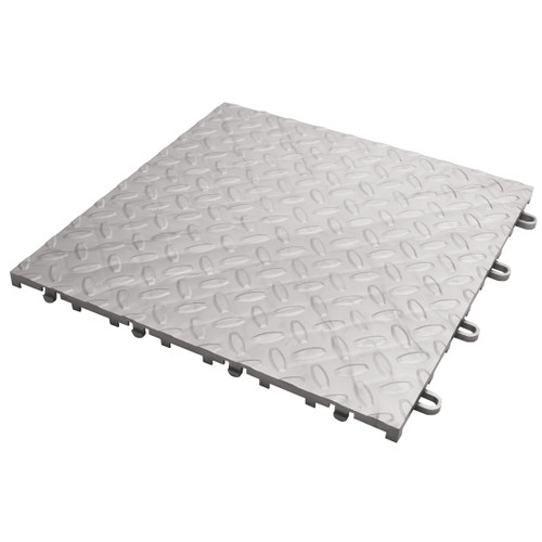 Gladiator Silver Tile Flooring (48-Pack)