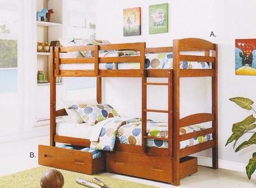 Bravo Single/Single Bunk Bed (drawers not included)