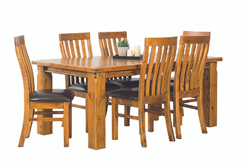 Woolshed 7 PCE Dining Set