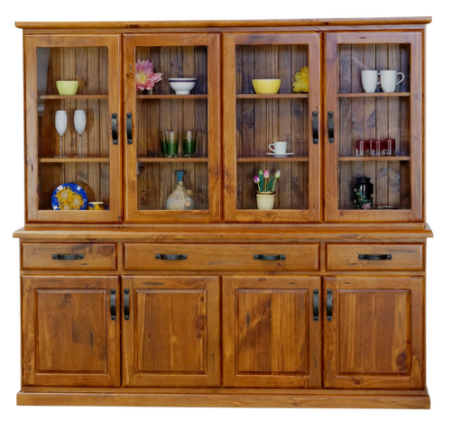 Drover Glass Top Buffet/Bookcase