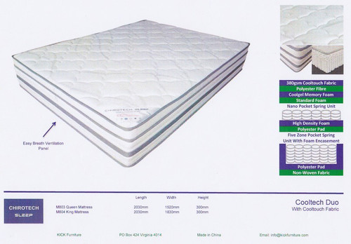 CoolTech Duo Queen Mattress