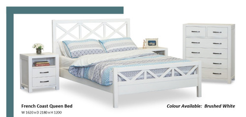 French Coast Queen Bed (bed frame only)