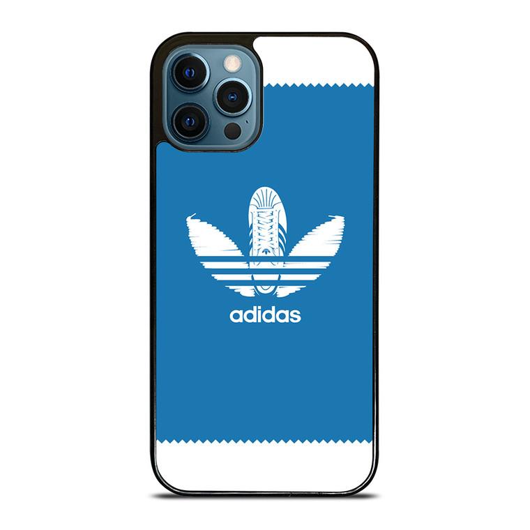 ADIDAS SHOE LOGO BLUE iPhone 12 Pro Case Cover