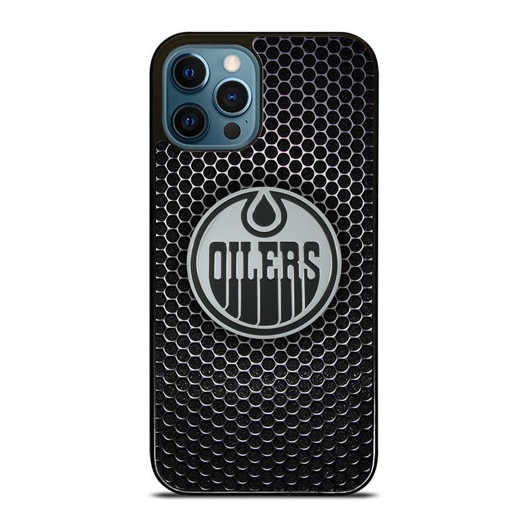 EDMONTON OILERS METAL LOGO iPhone 12 Pro Case Cover
