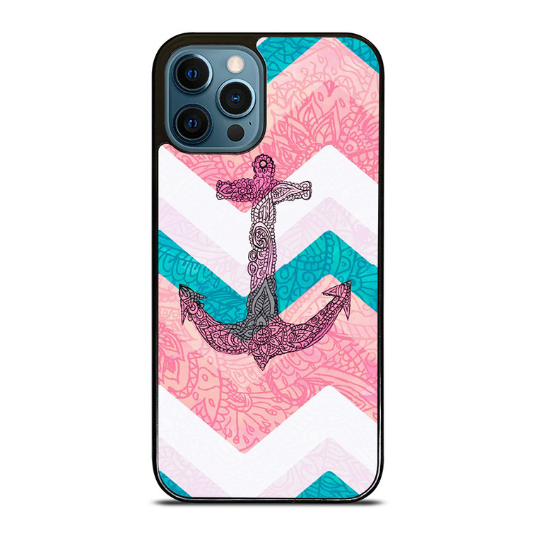 PAISLEY TRIBAL NAUTICAL ANCHOR iPhone 12 Pro Case Cover