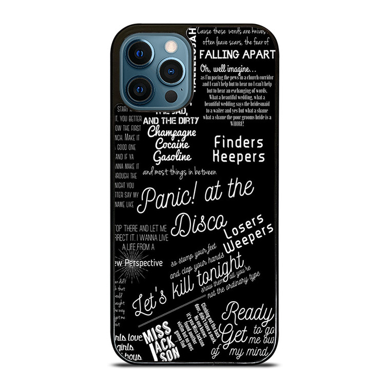 PANIC AT THE DISCO LYRIC iPhone 12 Pro Case Cover