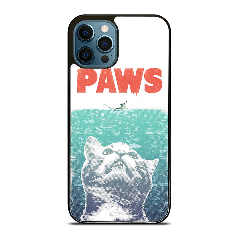 PAWS FUNNY JAWS CAT iPhone 12 Pro Case Cover