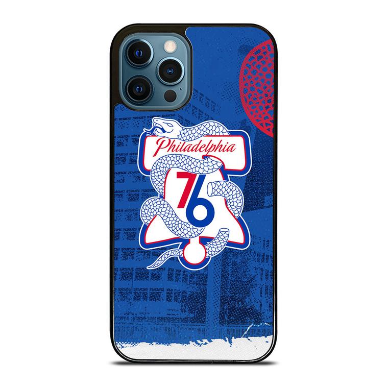 PHILADELPHIA 76ERS ICON iPhone 12 Pro Case Cover