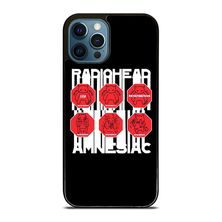 RADIOHEAD AMNESIAC LOGO iPhone 12 Pro Case Cover